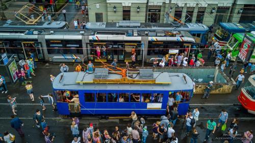В Киеве масштабно отметили 125-летие трамвая