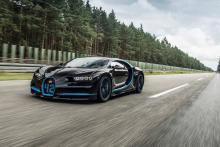 Bugatti Chiron разгонится до 450 км\ч. Видео