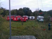 Какая техника ликвидирует последствия пожара на складе боеприпасов в Калиновке. Фото