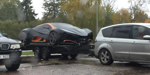 Первый украинский суперкар Himera Q засняли в Латвии - Himera