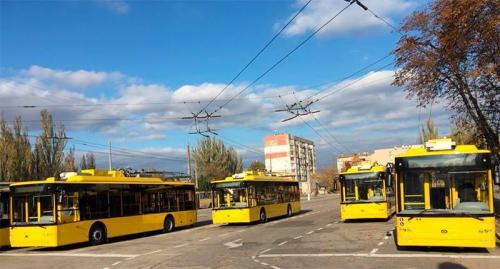 Херсон получил новые троллейбусы