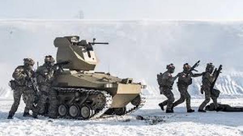 """Концерн """"Калашников"""" испытал боевые роботизированные платформы в условиях низких температур - робот"""