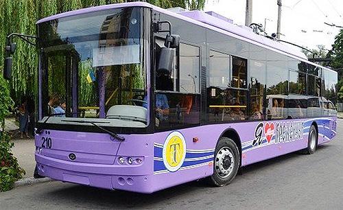 Для Кременчуга презентовали первые 5 троллейбусов Богдан - Богдан