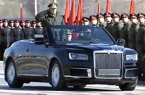 Кабриолет Aurus примет участие в Параде