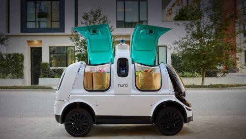 В Калифорнии по дорогам начали ездить беспилотные роботы-доставщики