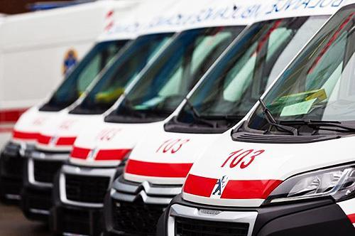 В Тернопольскую область передали 13 автомобилей скорой помощи