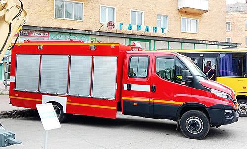 На базе IVECO Daily в Украине выпустили пожарный автомобиль