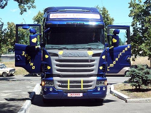 Sсania объединяет сердца: в Украине грузовики Sсania стали свадебным кортежем (фото) - Sсania