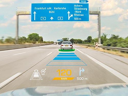 Continental разработала систему подсказок для водителя прямо на лобовом стекле - Continental