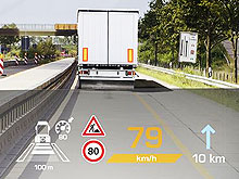 Сontinental представит цифровой проекционный дисплей для грузовиков и автобусов - Сontinental