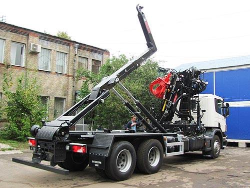 В Украину поставлена еще одна партия крюковых погрузчиков MULTILIFT XP22S59 на шасси Scania P440 - погрузчик
