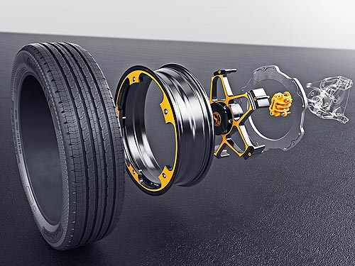 В Continental изобрели колесо и тормоза для электромобилей - Continental