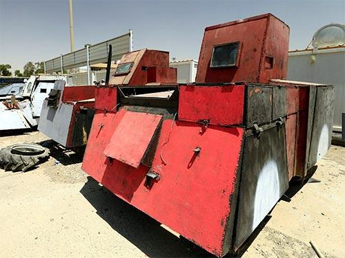 Бронированные машины иракских террористов. Фото - брон