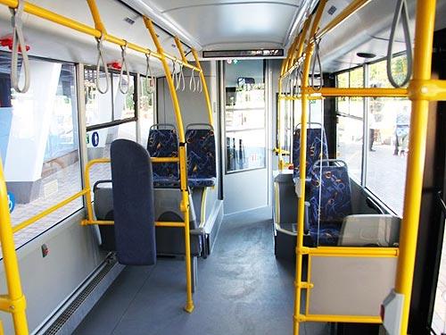 В Украину поставлен первый газовый автобус МАЗ - МАЗ