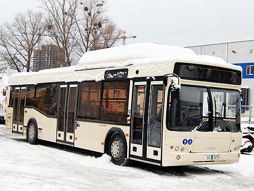 В Украину поставлен первый газовый автобус МАЗ