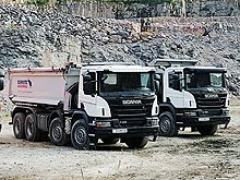 На что способны строительные самосвалы Scania. Тест-драйв в гранитном карьере