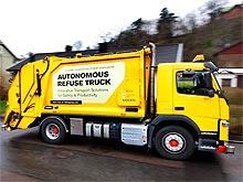 Volvo Trucks тестирует самоуправляемый мусоровоз