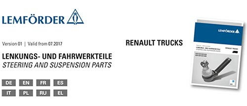 У ZF Aftermarket появился новый каталог по компонентам Renault Trucks - ZF