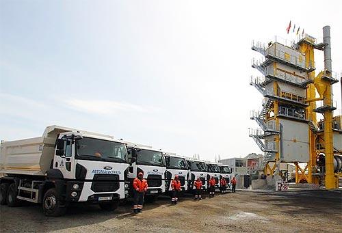 Открыт самый мощный в Украине асфальтобетонный завод