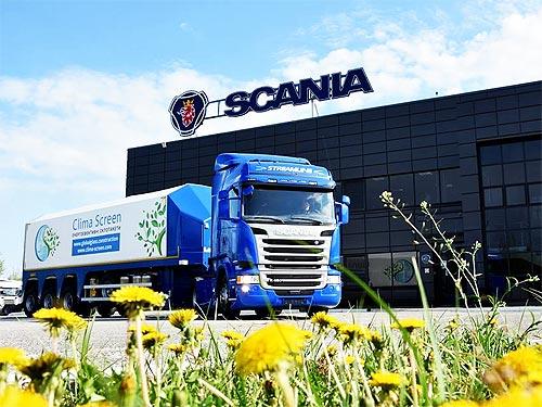 Scania поставила в Украину уникальный автопоезд для перевозки стекла