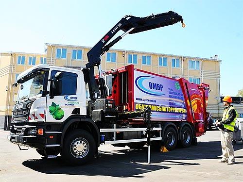 Scania поставила в Украину уникальный мусоровоз
