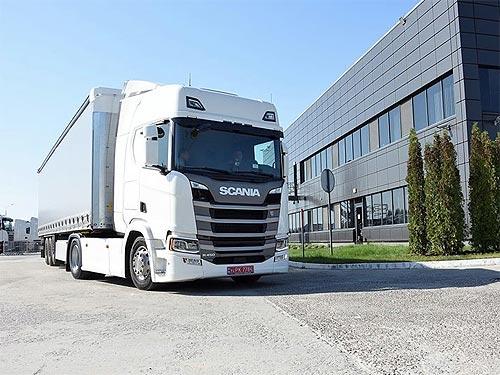 Кто стал первым в Украине владельцем грузовика Scania R450 нового поколения