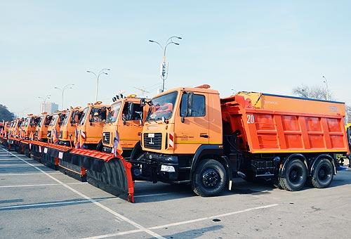 МАЗ стал главной техникой у киевских коммунальщиков