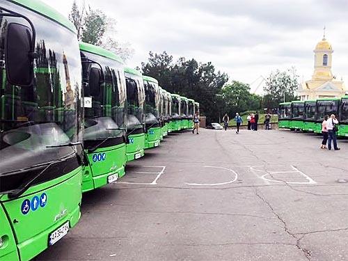 Николаев получил 23 новых автобуса МАЗ 206
