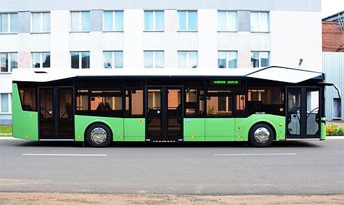 К 75-летию МАЗ представил городской автобус нового поколения - МАЗ