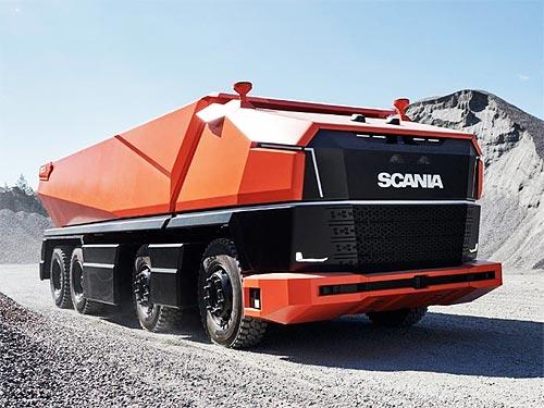 Scania представила новый концепт беспилотного самосвала без кабины