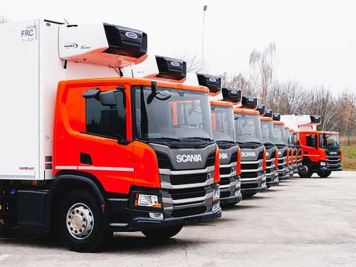Scania Украина начала крупную поставку грузовиков для Fozzy Group