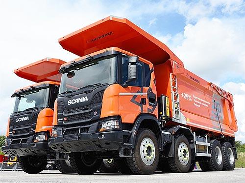 Scania поставила в Украину первые тяжелые самосвалы г/п 40 т