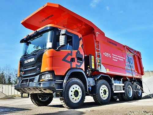 Scania представит в Украине новый тяжелый карьерный самосвал