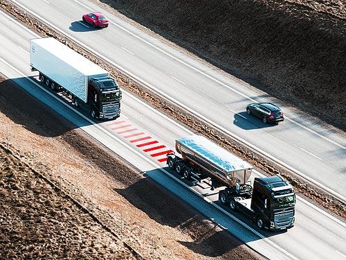 Volvo Trucks внедрила систему предупреждения об опасной дистанции Distance Alert