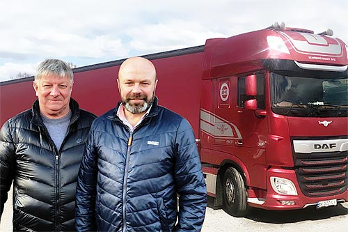 DAF в украинских реалиях: Владельцы транспортной компании «M + K» - вместе с DAF мы спокойны