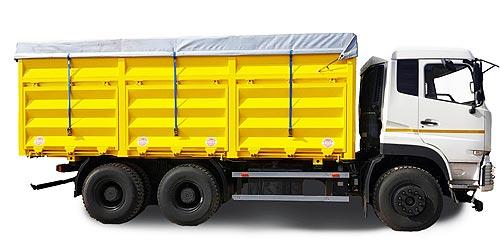 В Украине выпустили доступный зерновоз объемом 65 куб. м на новом шасси - Dongfeng