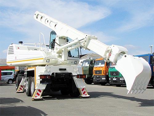 На шасси МАЗ 6302 построили экскаватор-планировщик - МАЗ