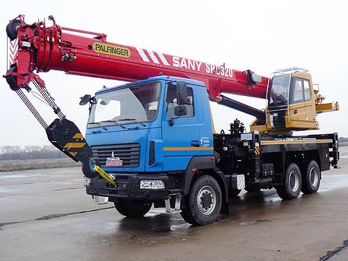 В Украине налажено локальное производство автокранов Palfinger Sany