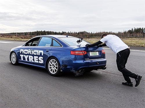 С помощью шин Nokian Tyres был установлен новый необычный мировой рекорд