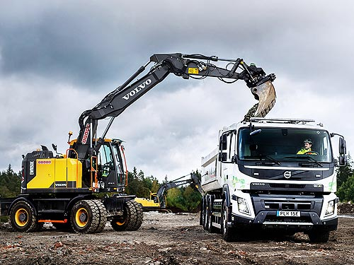 Электрические грузовики Volvo FM и Volvo FMX начали испытывать в строительстве