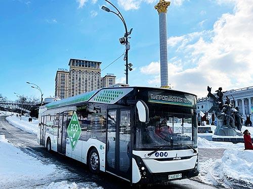 Минский автозавод презентовал в Киеве электробус МАЗ-303Е