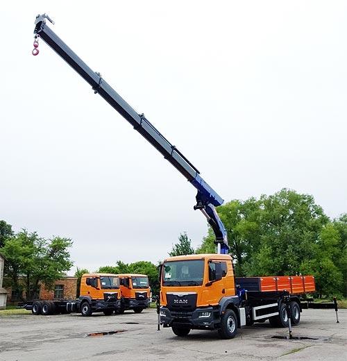 «Автострада» закупила партию бортовых MAN с крано-манипуляторными установками PM - PM