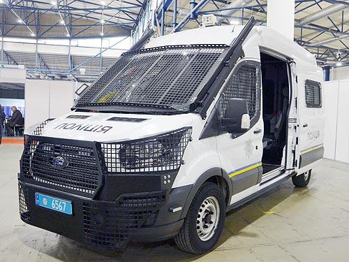 Спецподразделения украинской полиции получили антивандальные Ford Transit «Захват»