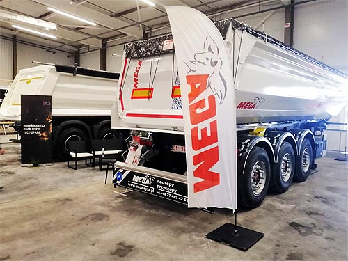 В Украине представили грузовики MAN нового поколения и самосвальный полуприцеп MEGA - MAN