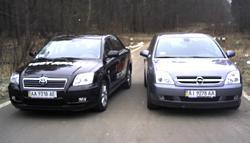Тест-драйв: Принципиальная дуэль. Toyota Avensis&Opel Vectra