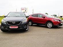 Сравнительный тест-драйв: Nissan Qashqai New vs Mazda CX-5. Какой дизельный кроссовер лучше?