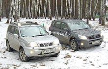 Тест-драйв: Toyota RAV4 vs Nissan X-Trail. Кому что нравится.