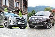 Тест-драйв Mazda CX-5 vs Renault Koleos: гонка за лидером