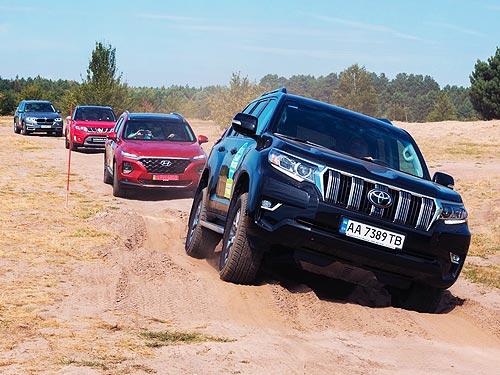 Сравнительный тест BMW X5, Toyota Prado Hyundai Santa Fe и Ford Ranger на бездорожье