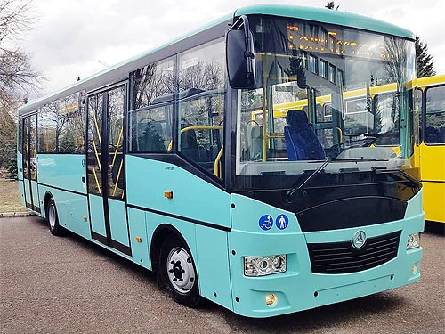 Херсон получает новые автобусы Эталон А081.28 - Эталон